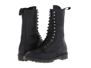 Dr. Martens Leather Lace Up Black Boots