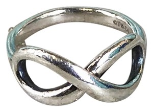 Tiffany & Co. Tiffany & Co 925 Sterling Silver Infinity Band Ring SZ 4 Women's SALE!