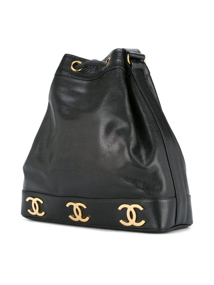 Chanel Shopping Tote Drawstring Rare Vintage Bucket Cc Black Caviar Leather  Shoulder Bag - Tradesy 481fcd74a2