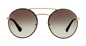 Prada Gold Trim Round Sunglasses PR 51S 1AB0A7 -FREE 3 DAY SHIPPING Rounded