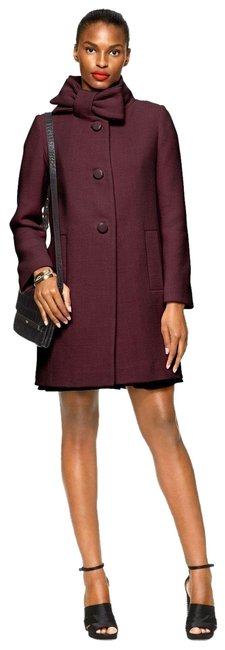 Item - Wine Bow Neck Wool In Midnight Coat Size 10 (M)
