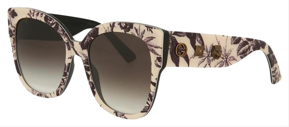 b3b341dec Gucci Multicolor Frame & Grey Gradient Lens Gg0059s 004 Cat Eye Style Women's  Sunglasses