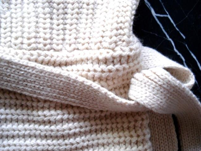 No Boundaries NO BOUNDARIES Ivory Knitted BELTED Sleeveless VEST SWEATER CARDIGAN S Image 2