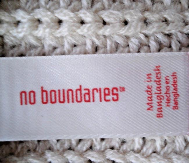 No Boundaries NO BOUNDARIES Ivory Knitted BELTED Sleeveless VEST SWEATER CARDIGAN S Image 8