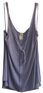 Free People Sleeveless Tie Keyhole Ribbed Relaxed Top lilac mist