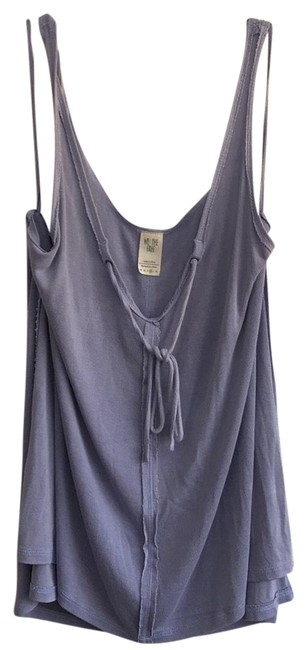 Free People Sleeveless Tie Keyhole Ribbed Relaxed Top lilac mist Image 0