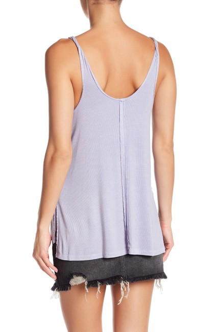 Free People Sleeveless Tie Keyhole Ribbed Relaxed Top lilac mist Image 8