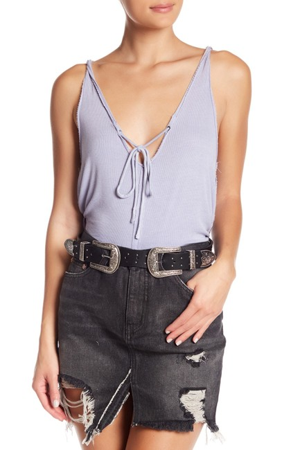 Free People Sleeveless Tie Keyhole Ribbed Relaxed Top lilac mist Image 9