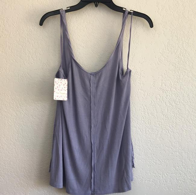 Free People Sleeveless Tie Keyhole Ribbed Relaxed Top lilac mist Image 5