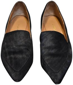 3.1 Phillip Lim Faux Fur Black Flats