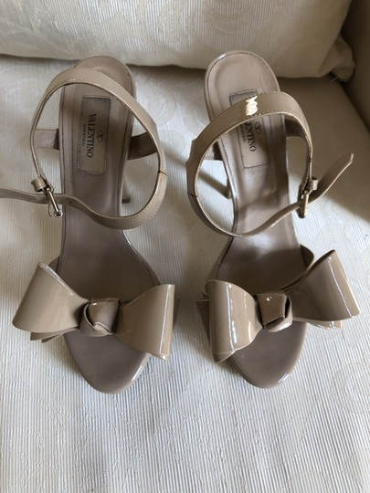 Valentino Heels Bow Pumps Nude Sandals Image 2