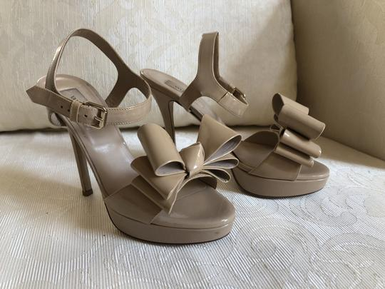 Valentino Heels Bow Pumps Nude Sandals Image 3