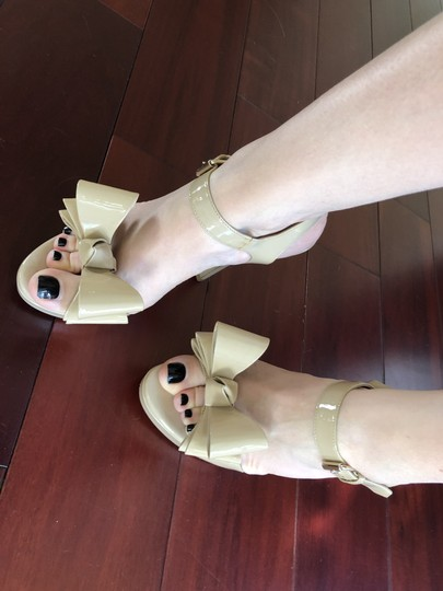 Valentino Heels Bow Pumps Nude Sandals Image 7
