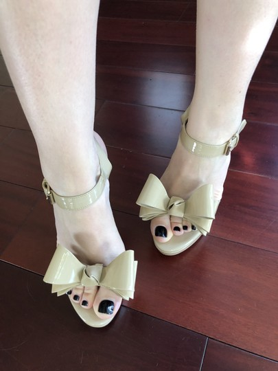 Valentino Heels Bow Pumps Nude Sandals Image 8