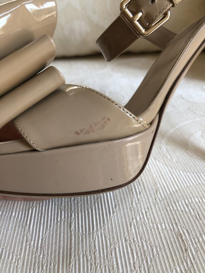 Valentino Heels Bow Pumps Nude Sandals Image 9