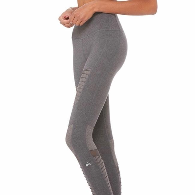 Alo High Waisted Moto Leggings in Gray Image 4