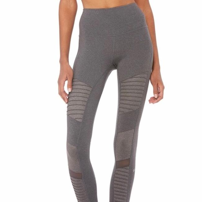Alo High Waisted Moto Leggings in Gray Image 5