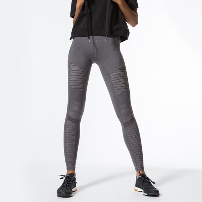Alo High Waisted Moto Leggings in Gray Image 6