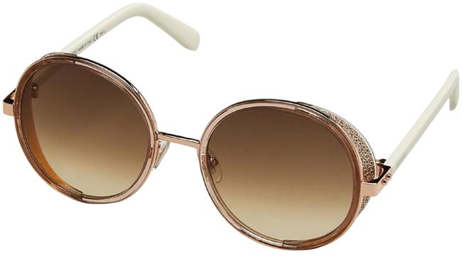 Item - White/Gold Andie N/S 1kh Cc Brown Lens Sunglasses