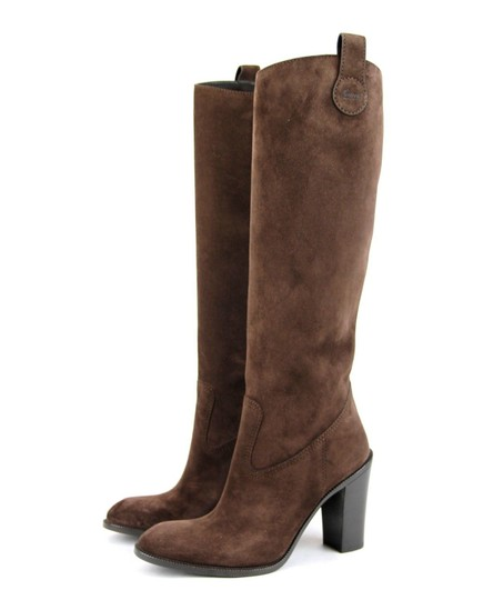 Gucci Leathersuede Tall Knee Brown Suede/2012 Boots Image 1