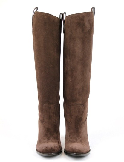 Gucci Leathersuede Tall Knee Brown Suede/2012 Boots Image 2