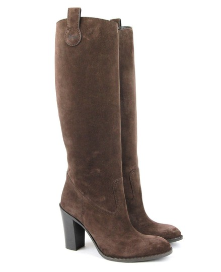 Gucci Leathersuede Tall Knee Brown Suede/2012 Boots Image 3
