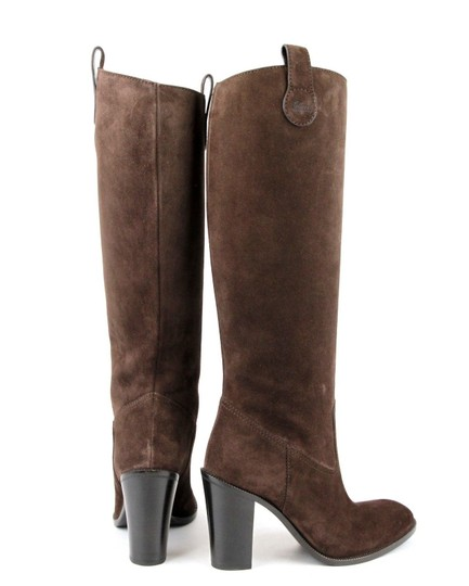 Gucci Leathersuede Tall Knee Brown Suede/2012 Boots Image 4