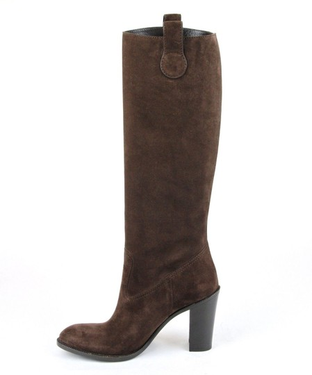 Gucci Leathersuede Tall Knee Brown Suede/2012 Boots Image 6