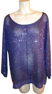 DKNY Knit Sparkley Sequin 001 Sweater