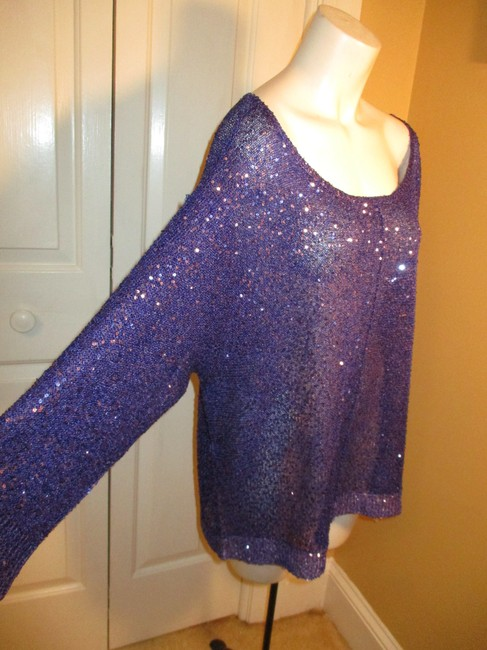 DKNY Knit Sparkley Sequin 001 Sweater Image 3