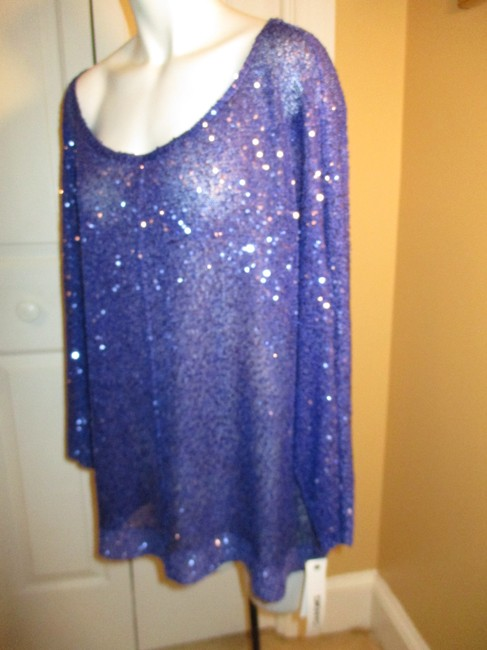 DKNY Knit Sparkley Sequin 001 Sweater Image 7