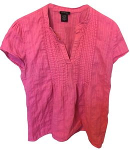 Calvin Klein Casual Pleated Business Casual Work Cotton Top pink