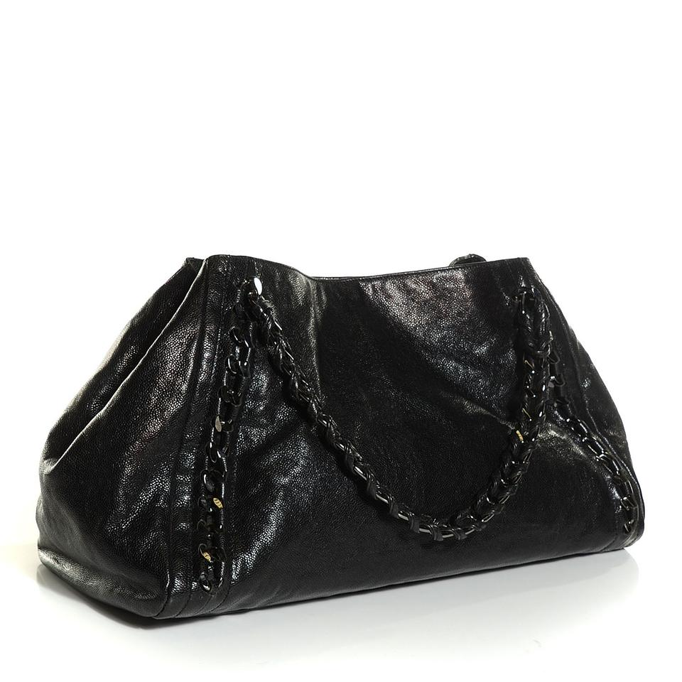 ee7f0ea0f859 Chanel East West Large Modern Chain Tote Black Calfskin Leather ...