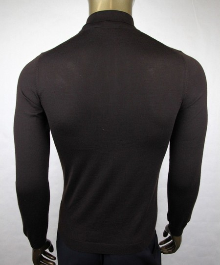 Gucci Dark Brown Cashmere Long Sleeve Polo Sweater M 244900 2060 Groomsman Gift Image 3