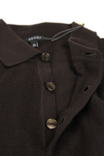 Gucci Dark Brown Cashmere Long Sleeve Polo Sweater M 244900 2060 Groomsman Gift Image 5