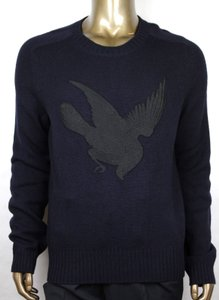 Gucci Blue W Men's Wool Cashmere Sweater W/Bird Patch M 430077 4265 Groomsman Gift