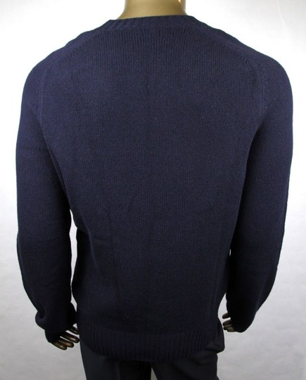 Gucci Blue W Men's Wool Cashmere Sweater W/Bird Patch M 430077 4265 Groomsman Gift Image 3