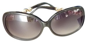 Chopard New CHOPARD SUNGLASSES Black Frame Pearls Swarovski Crystals