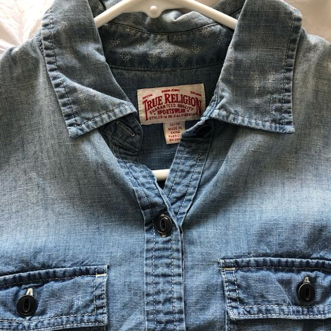 True Religion Button Down Shirt chambray Image 1