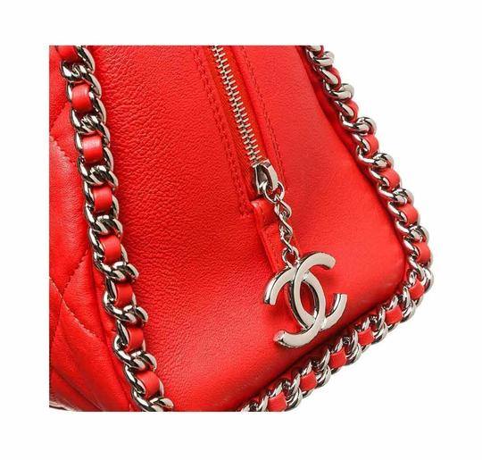 Chanel Chain Around Silver Hardware Tote Shoulder Bag Image 5