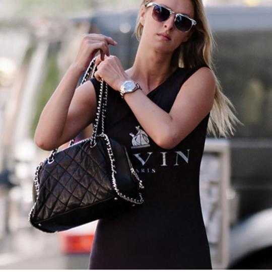Chanel Chain Around Silver Hardware Tote Shoulder Bag Image 6