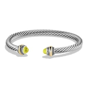 David Yurman Cable Classic Bracelet Lemon Citrine And 14k Yellow Gold