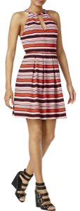 Kensie short dress Hot Lava Combo Striped Fit on Tradesy