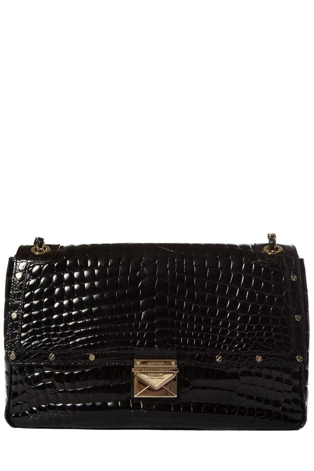 4b4d39f950 Versace Gianni Couture Black Crocodile Skin Leather Shoulder Bag ...