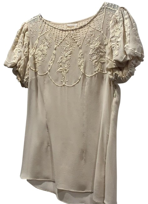 Preload https://img-static.tradesy.com/item/24389727/tracy-reese-beige-embroidered-silk-blouse-size-2-xs-0-1-650-650.jpg