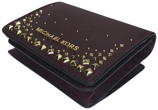 27dfe8bfcb8479 Michael Kors MICHAEL Michael Kors Flap Card Holder Studded Wallet Image 0  ...
