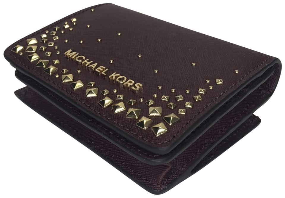 ecad5e886862 ... shopping michael kors michael michael kors flap card holder studded  wallet 96699 c57cd