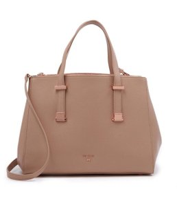 Ted Baker Aminaa Adjustable Handle Shopper Tote Leather Satchel in MInk Beige