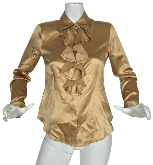 Preload https://img-static.tradesy.com/item/24389879/lafayette-148-new-york-beige-satin-ruffle-women-blouse-size-2-xs-0-1-650-650.jpg