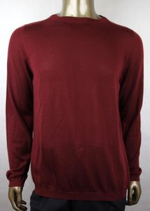 Gucci Wine Red L W Men's Cashmere W/Gg Emblem Pullover Sweater 369065 6215 Groomsman Gift